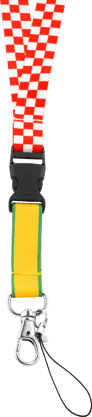 Red Chekered, Yellow And Green Stripe